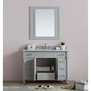 Continental Collection 48-inch Marble Top Single Sink Vanity