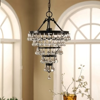 ABBYSON LIVING Tiffany Crystal Tear Drop Chandelier