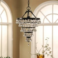 Abbyson Tiffany Crystal Tear Drop Small Chandelier