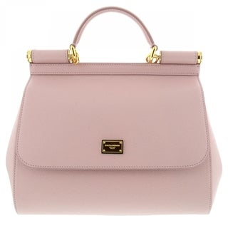 Dolce & Gabbana 'Sicily' Leather Pink Tote Handbag