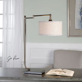 Uttermost Lamine Dark Bronze Desk Lamp
