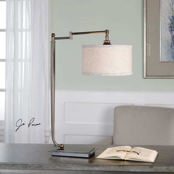 Uttermost Lamine Dark Bronze Desk Lamp. Opens flyout.
