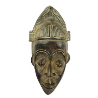 African Wood Mask, 'Kwadwo' (Ghana)