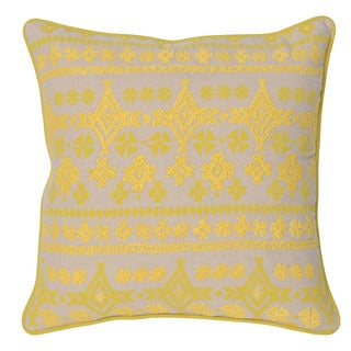 Kosas Home Morris Yellow 20inchesx20inches Down and Feather Filled Throw Pillow