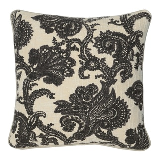 Kosas Home Janis Black 20inchesx20inches Down and Feather Filled Throw Pillow