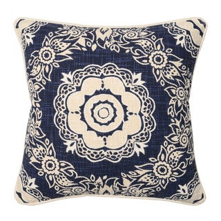 Kosas Home Lynda Navy 20inchesx20inches Down and Feather Filled Throw Pillow
