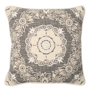 Kosas Home Lynda Grey 20inchesx20inches Down and Feather Filled Throw Pillow