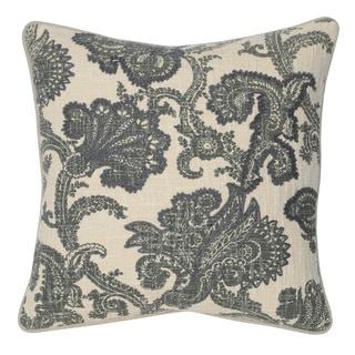 Kosas Home Janis Grey 20inchesx20inches Down and Feather Filled Throw Pillow