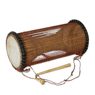 Wood Dondo Drum, 'Northern Beat' (Ghana)