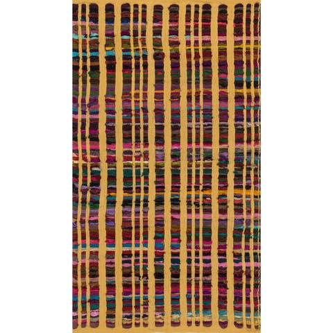 Flatweave Rory Yellow Multi Cotton Rug - 2'3 x 3'9