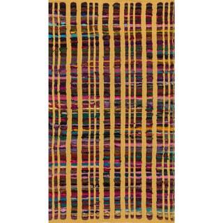 Flatweave Rory Yellow Multi Cotton Rug (2'3 x 3'9)