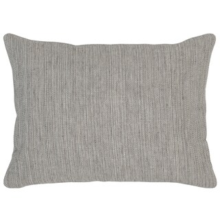 Kosas Home Aiden 12inchesx16inches Dark Multi Grey Linen and Cotton Feather and Down Filled Down and Feather Filled Throw Pillow