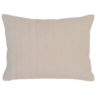 Kosas Home Aiden 12inchesx16inches Cream Linen and Cotton Feather and Down Filled Down and Feather Filled Throw Pillow