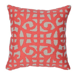 Kosas Home Barrett Red 20inchesx20inches Down and Feather Filled Throw Pillow