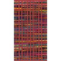 Flatweave Rory Red Multi Cotton Rug - 2'3 x 3'9