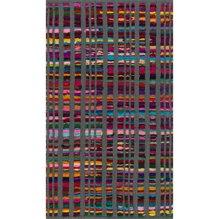 Flatweave Rory Grey Multi Cotton Rug (2'3 x 3'9)