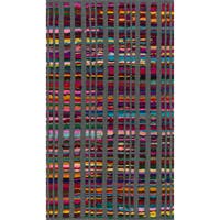 Flatweave Rory Grey Multi Cotton Rug - 2'3 x 3'9
