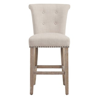 Selma Beige Fabric Counter Stool (Set of 2)