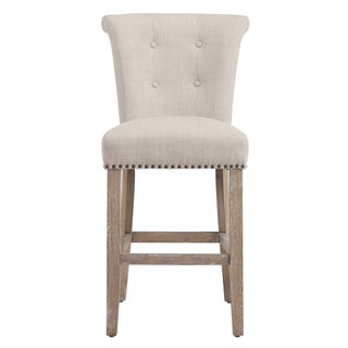 Maison Rouge Mitchell Beige Fabric Counter Stool (Set of 2)