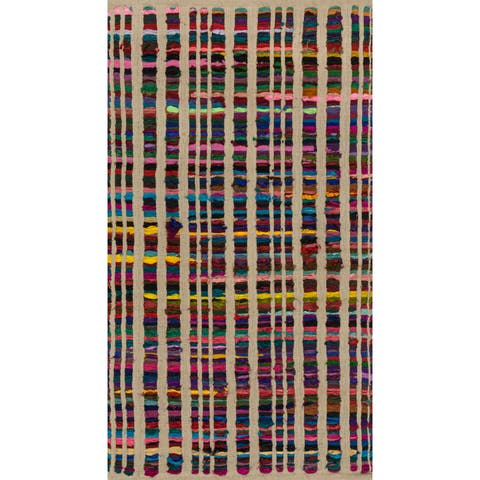 Flatweave Rory Beige Multi Cotton Rug - 2'3 x 3'9
