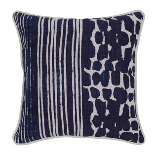 Kosas Home Tanza 18x18 Linen Blue Down and Feather Filled Throw Pillow