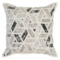 Kosas Home Latur 18x18 Cotton Linen Black Grey Down and Feather Filled Throw Pillow