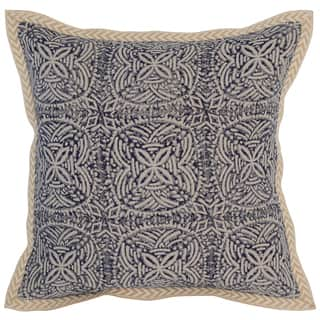 Kosas Home Cainta Screen Printed 18x18 Linen Blue Down and Feather Filled Throw Pillow|https://ak1.ostkcdn.com/images/products/13577946/P20253135.jpg?impolicy=medium