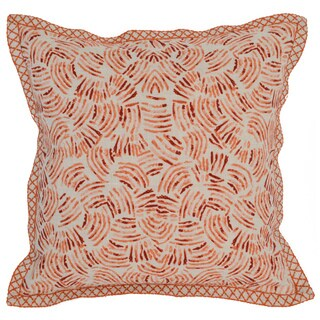 Kosas Home Tarlec 18x18 Linen Orange Down and Feather Filled Throw Pillow
