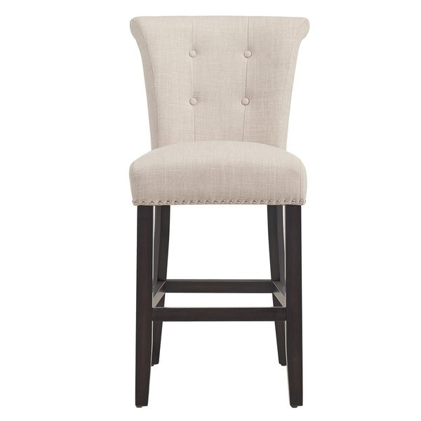 Selma Fabric And Wood 26 Inch Counter Stool Set Of 2