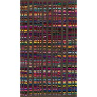 "Flatweave Rory Brown Multi Cotton Rug - 1'8"" x 3'"