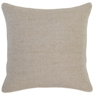 Kosas Home Agra 22x22 Cotton Linen Natural Ivory Down and Feather Filled Throw Pillow