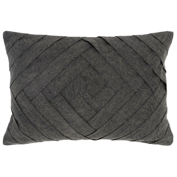 Kosas Home Chapra 14x20 Cotton Linen Charcoal Down and Feather Filled Throw Pillow