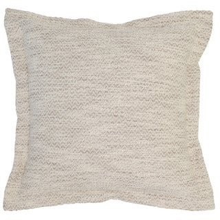 Kosas Home Morena 22x22 Cotton Ivory Taupe Down and Feather Filled Throw Pillow