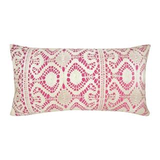 Kosas Home Kaner 14x26 Cotton Velvet Fuchsia Down and Feather Filled Throw Pillow