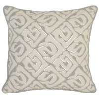 Kosas Home Korba 18x18 Linen Cotton Grey Ivory Down and Feather Filled Throw Pillow