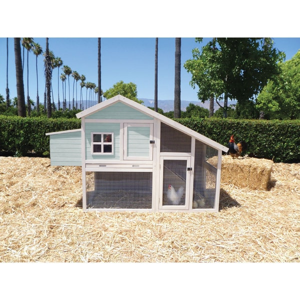 Precision Pet 'Nantucket' Chicken Coop - nantucket blue/white