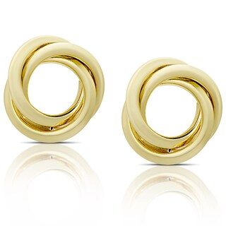 Dolce Giavonna 14k Gold Open Circle Stud Earrings