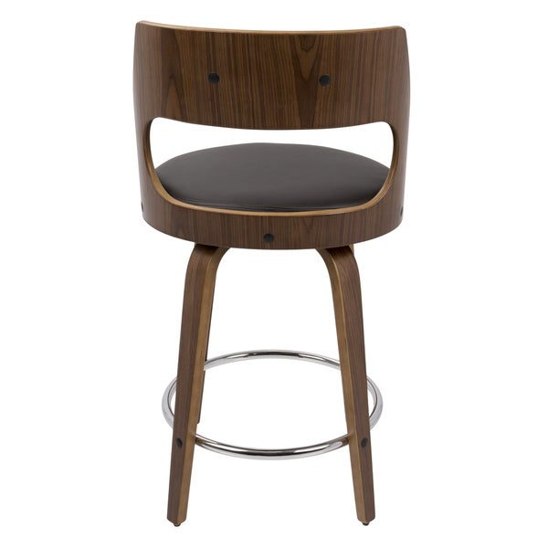 Mid Century Counter Stools Part - 19: Cecina Mid-Century Modern 24 Inch Counter Stool By LumiSource - Free  Shipping Today - Overstock.com - 20253990