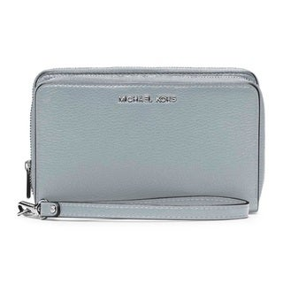 Michael Kors Adele Large Dusty Blue Flat Multifunction Phone Case Wallet