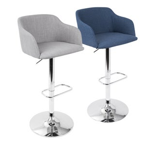 Daniella Contemporary Adjustable Barstool by LumiSource