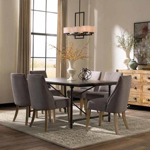 Antoinette 7 Piece Dining Set And Accent Cabinet