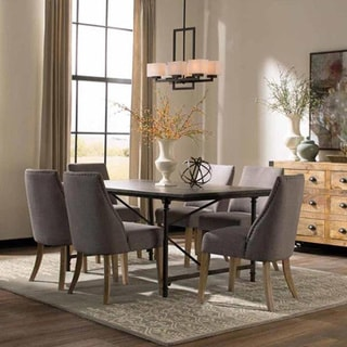 Antoinette 7-piece Dining Set And Accent Cabinet