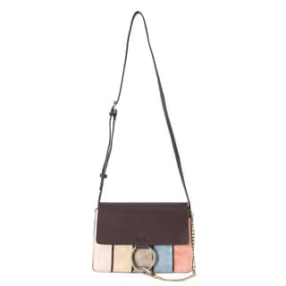 Diophy Flap Vertical Stripes Fashion Crossbody Handbag