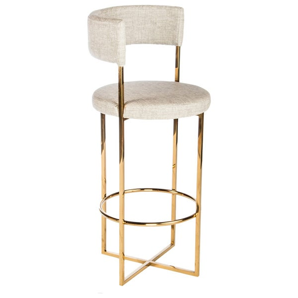 Statements By J Carrie Gold Metal And Faux Leather Bar