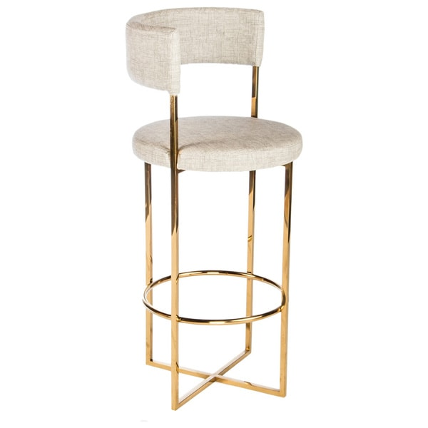 Statements by J Carrie Gold Metal and Faux leather Bar  : Statements by J Carrie Gold Metal and Faux leather Bar Stool ba9b3275 7b45 463d 8f9b dc76742cceff600 from www.overstock.com size 600 x 600 jpeg 22kB
