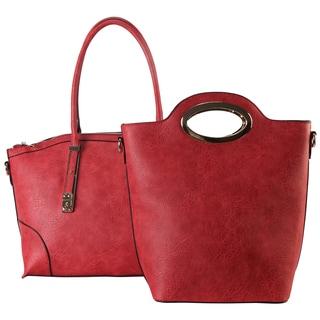 Diophy Stylish Fashion 2-piece Set Satchel Handbag