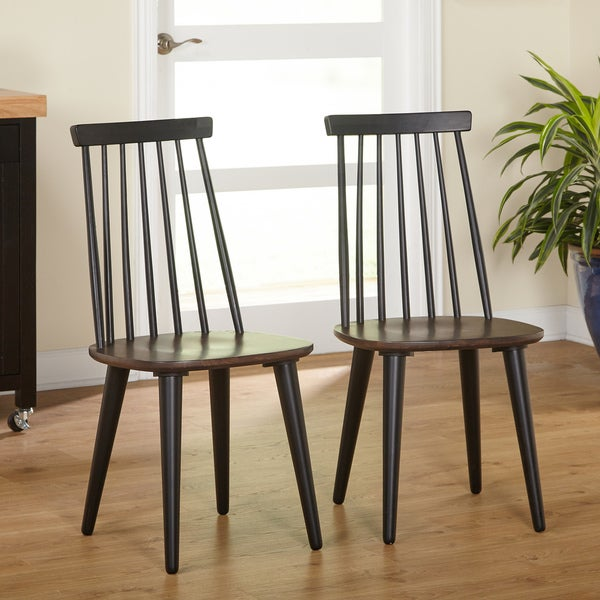 Simple living elyse modern farmhouse dining chair set of for Modern farmhouse dining chairs