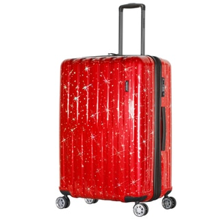 Olympia Cosmo Blue/Red Polycarbonate 3-piece Expandable Hardside Spinner Luggage Set