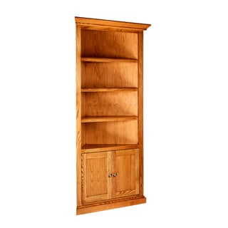 Forest Designs Mission-Style Wood Corner Bookcase