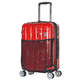 Olympia Cosmo 21-inch Expandable Hardside Polycarbonate Carry-on Spinner Suitcase